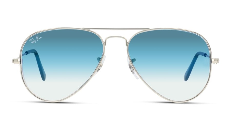Ray-Ban Aviator RB 3025 Unisex Sunglasses Blue / Silver