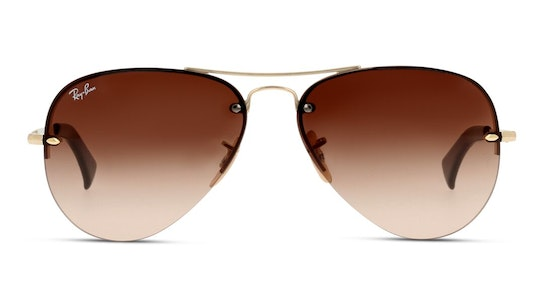 RB 3449 (001/13) Sunglasses Brown / Gold