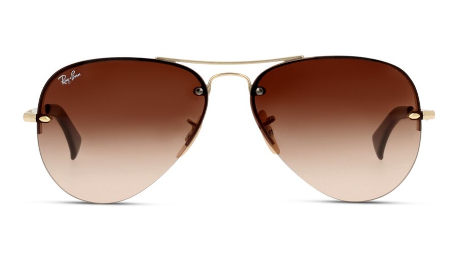 Ray-Ban RB 3449 Men's Sunglasses Brown / Gold