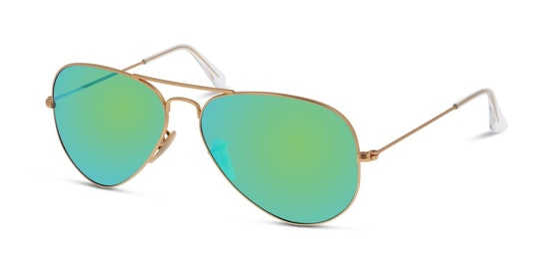 Aviator RB 3025 (112/19) Sunglasses Green / Gold