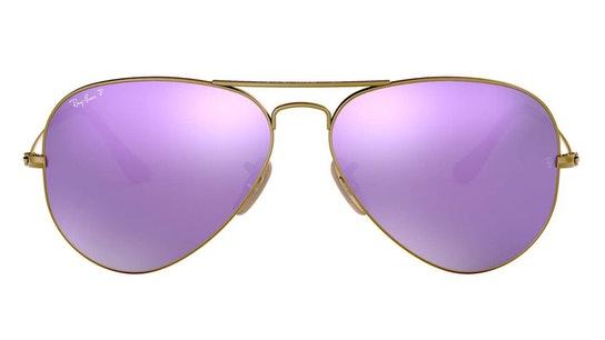 Aviator RB 3025 (167/1R) Sunglasses Violet / Bronze