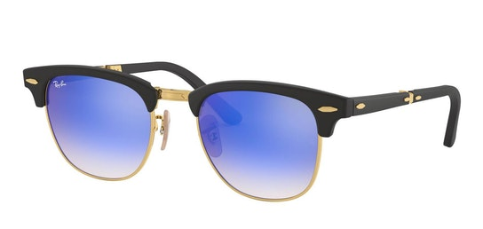 Clubmaster Folding RB 2176 Men's Sunglasses Blue / Black