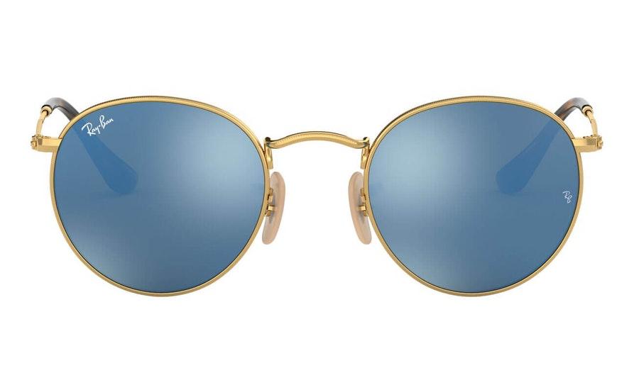 Ray-Ban Round Metal RB 3447N Men's Sunglasses Havana/Gold