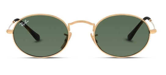 Oval RB 3547N (001) Sunglasses Green / Gold
