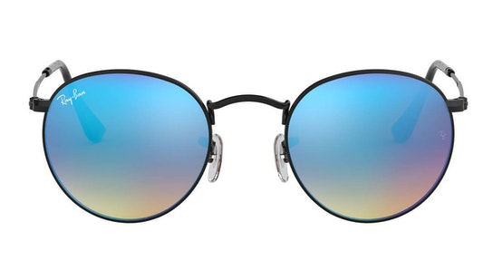 Round Metal RB 3447 (002/4O) Sunglasses Blue / Black