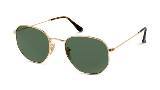 Hexagonal RB 3548N (001) Sunglasses Green / Gold