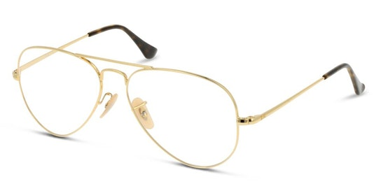 Aviator RX 6489 (2500) Glasses Transparent / Gold