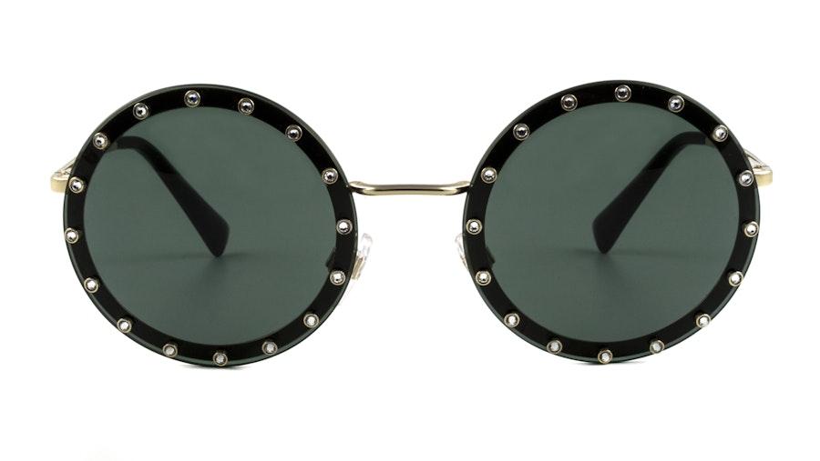 Valentino VA 2010B Women's Sunglasses Green / Gold