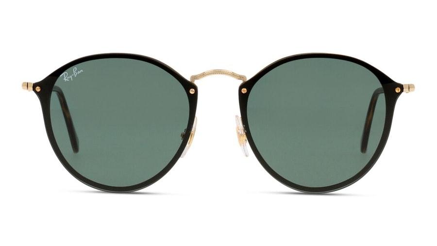 Ray-Ban Blaze Round RB 3574N Men's Sunglasses Green/Gold