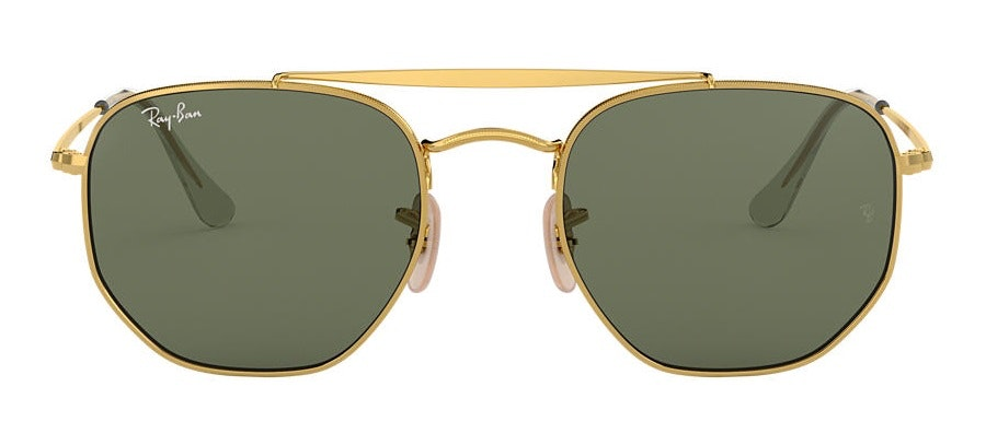 Ray-Ban The Marshall RB 3648 (001) Sunglasses Green / Gold