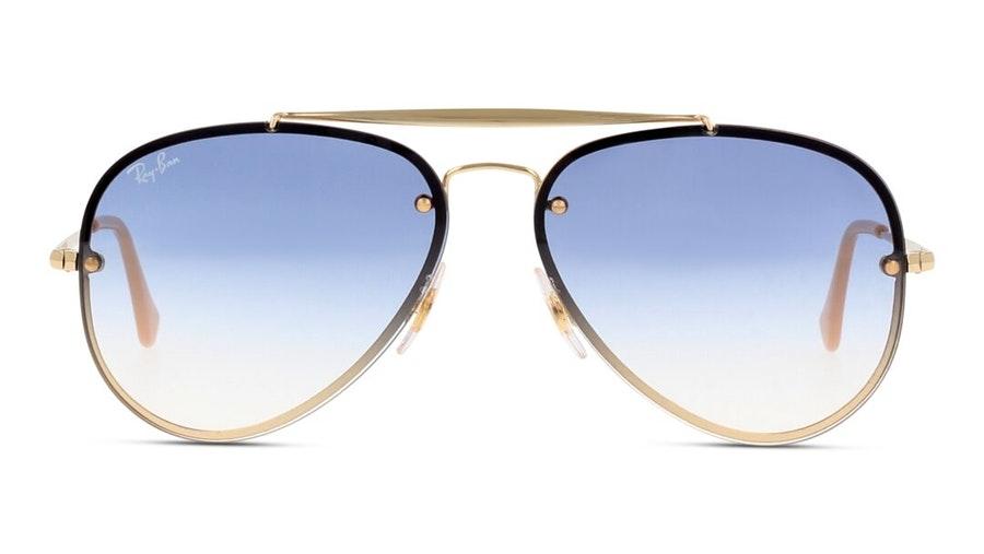 Ray-Ban Blaze Aviator RB 3584N Men's Sunglasses Blue / Gold