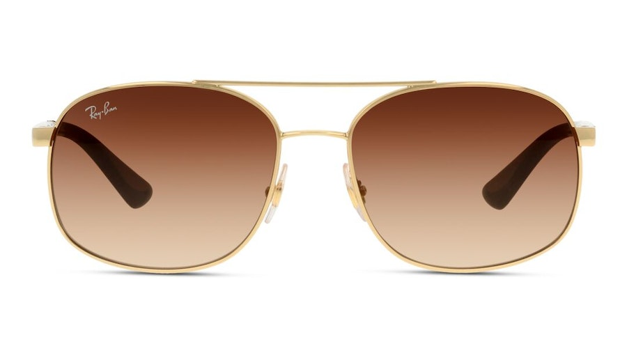 Ray-Ban RB 3593 (001/13) Sunglasses Brown / Gold