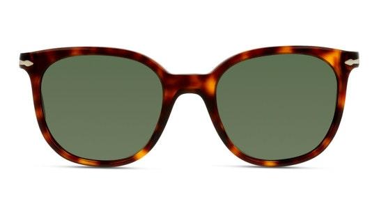 PO 3216S Unisex Sunglasses Green / Tortoise Shell