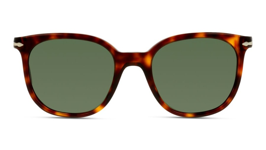 Persol PO 3216S Unisex Sunglasses Green / Tortoise Shell