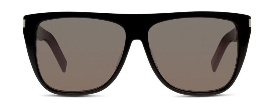 Saint Laurent SL 1 002 Men's Sunglasses Grey / Black