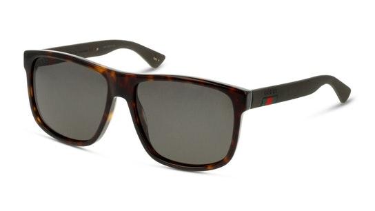 GG 0010S (003) Sunglasses Grey / Tortoise Shell