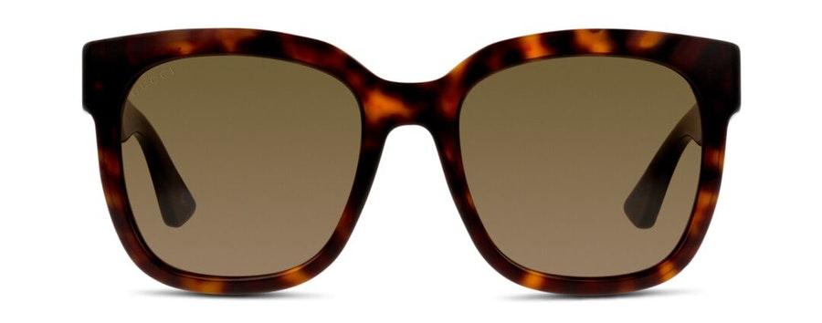 Gucci GG 0034S Women's Sunglasses Brown / Havana