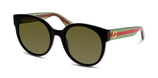 GG 0035S (002) Sunglasses Green / Black