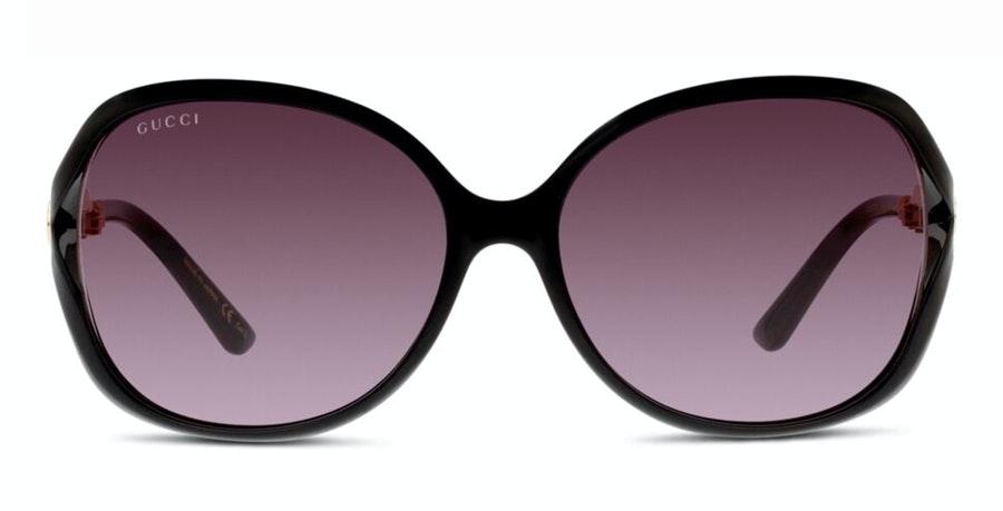 Gucci GG 0076S Women's Sunglasses Grey / Black