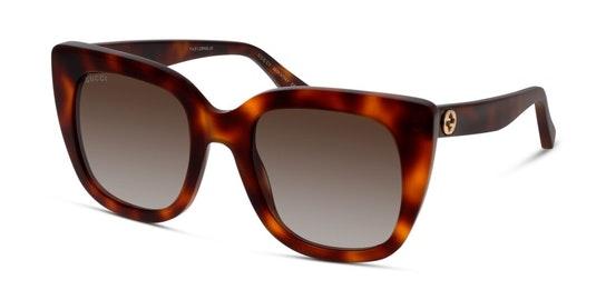 GG 0163S Women's Sunglasses Brown / Tortoise Shell