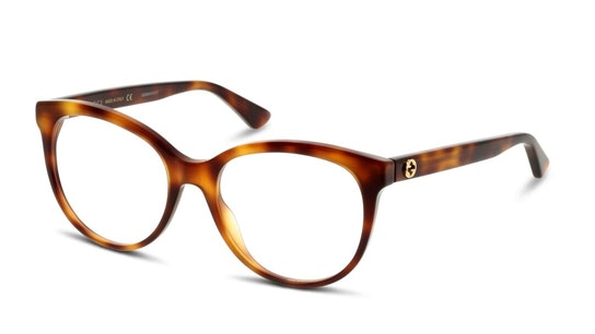 GG 0329O Women's Glasses Transparent / Havana