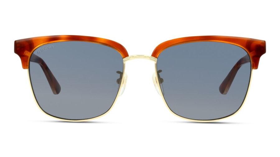 Gucci GG 0382S (005) Sunglasses Blue / Tortoise Shell