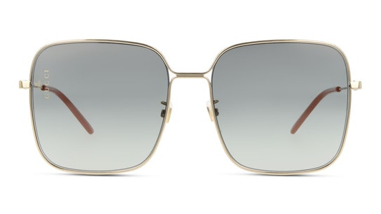 GG 0443S (001) Sunglasses Grey / Gold