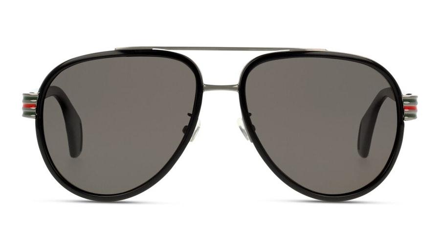 Gucci GG 0447S (001) Sunglasses Grey / Black