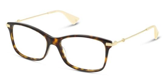 GG 0513O (002) Glasses Transparent / Tortoise Shell