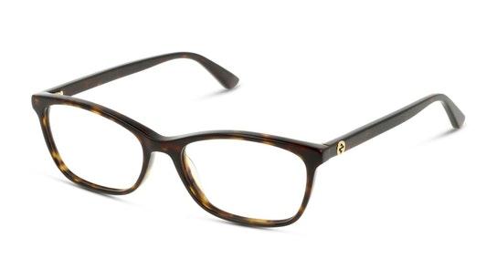 GG 0613O (002) Glasses Transparent / Havana