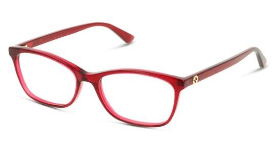 GG 0613O (004) Glasses Transparent / Red