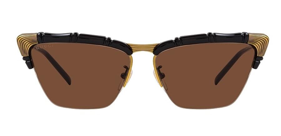 Gucci GG 0660S (001) Sunglasses Brown / Black