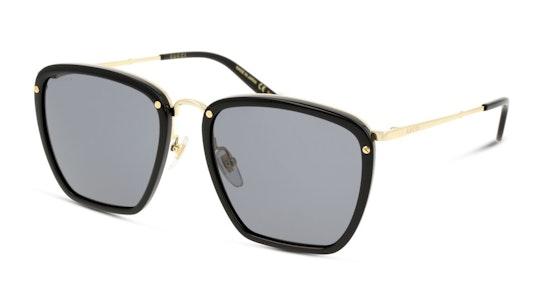 GG 0673S Men's Sunglasses Grey / Black