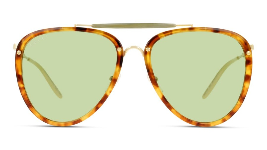 Gucci GG 0672S (003) Sunglasses Yellow / Havana