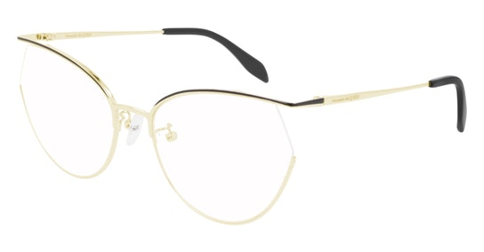 AM 0256O (Large) (001) Glasses Transparent / Gold