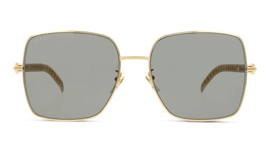 Gucci GG 0724S (001) Sunglasses Grey / Gold
