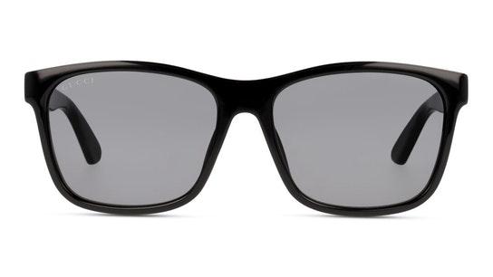 GG 0746S (001) Sunglasses Grey / Black