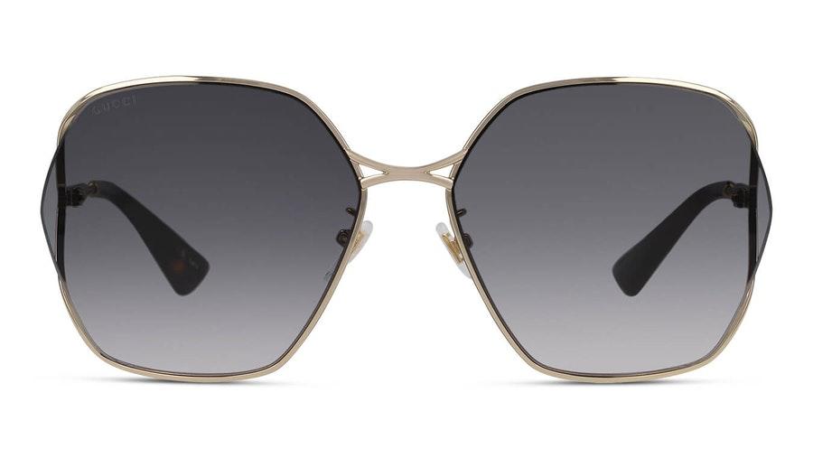 Gucci GG 0818SA Women's Sunglasses Grey / Gold