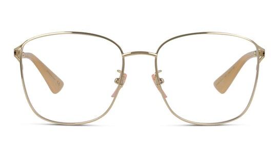 GG 0819OA (Large) Women's Glasses Transparent / Gold