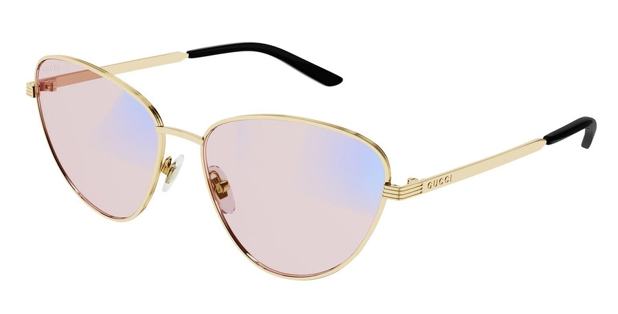 Gucci Blue & Beyond GG 0803S (005) Sunglasses Pink / Gold