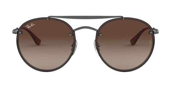 Blaze Round Doublebridge RB 3614N (914413) Sunglasses Brown / Grey