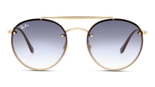 Blaze Round Doublebridge RB 3614N (91400S) Sunglasses Blue / Gold
