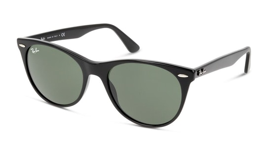 Wayfarer II RB 2185 (901/31) Sunglasses Green / Black