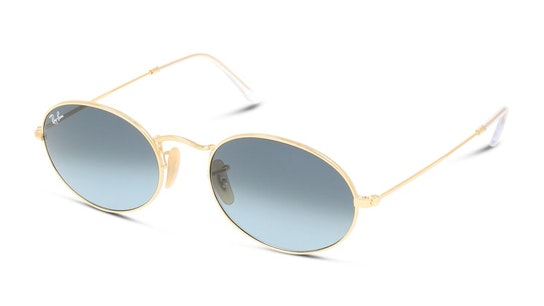 Oval RB 3547 (001/3M) Sunglasses Blue / Gold