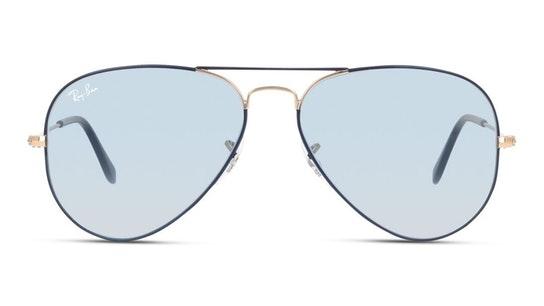 Aviator RB 3025 (9156AJ) Sunglasses Blue / Grey