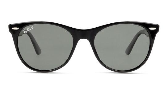 Wayfarer II RB 2185 (901/58) Sunglasses Green / Black