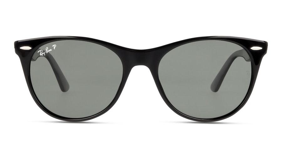 Ray-Ban Wayfarer II RB 2185 Woman's Sunglasses Green/Black