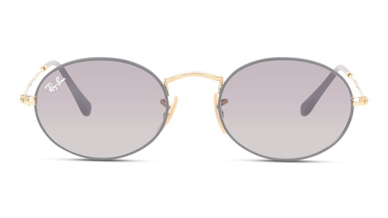 Oval RB 3547 (9154AH) Sunglasses Grey / Gold