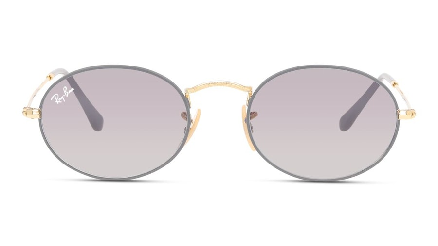 Ray-Ban Oval RB 3547 Unisex Sunglasses Grey / Gold