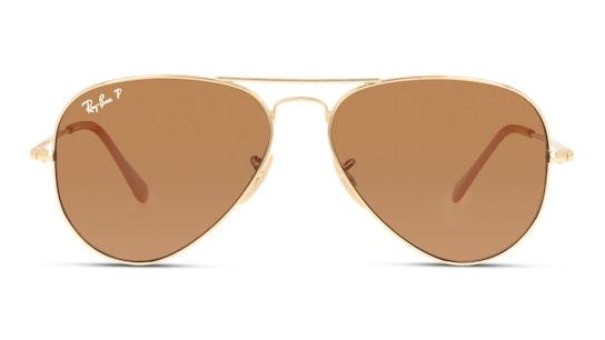 Aviator Metal II RB 3689 (906447) Sunglasses Brown / Gold